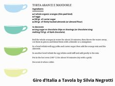 TORTA ARANCE E MANDORLE Italian Recipes, Shaving, Drinks, Food, Drinking, Beverages, Essen, Drink, Meals