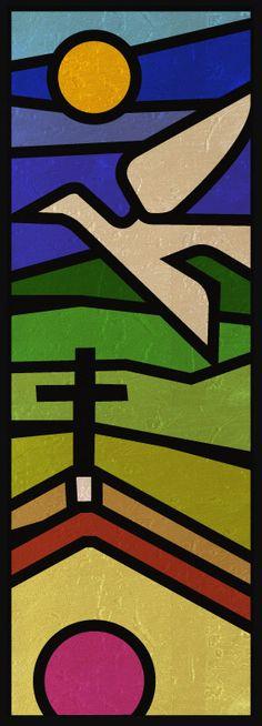 Projeto de vitral para a Capela de São João Menino, Sítio Acuhni, Pirenópolis, Goiás, Brasil
