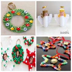 manualidades-navidad-niños Toy Craft, Craft Box, Winter Activities, Toddler Activities, Paper Toys, Paper Crafts, Crafts For Kids, Crochet Earrings, Happy Birthday