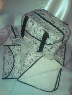 bolso maternal + cambiador + manta y cartuchera organizador