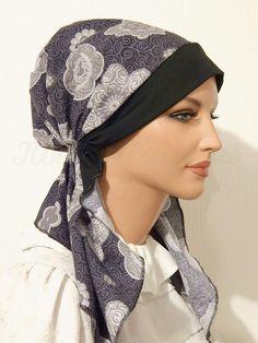 2015 Black Grey Big Floral Headband_01 Turban Headband Tutorial, Tie Headband, Black Headband, Turban Headbands, Floral Headbands, Scrub Hats, Plus Size Shirts, Dress Sewing Patterns, Womens Scarves