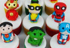 Cupcakes de super heróis....