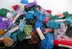 76 Needloft Plastic Canvas Yarn 2 Sizes 1416 Yards 21 Colors Listed #Needloft #Plasticcanvas