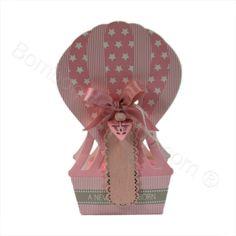 Mongolfiera Rosa con stelline e confetti inclusi