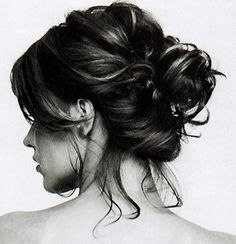 Loose, low bun