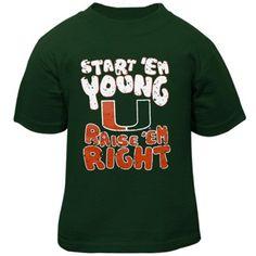 Miami Hurricanes Infant Start 'Em Young T-Shirt - Green