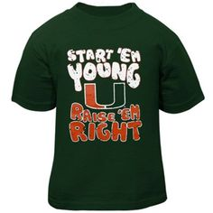 Miami Hurricanes Infant Start 'Em Young T-Shirt - Green