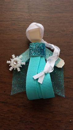 Frozen's Princess Elsa inspired hair clip by kaydeeskreations, $5.00