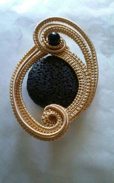 Coupon Code: SUMMER16 20% Off Any Purchase $20 or more A Sparrow Song Signature Design for Fall of 2015. This #pendant is #handmade woven and wrapped in #brass capturing lava rock. This pendant measures 2 1/2 by 1 3/4 inches. #jewelry #wirewrappped #wiresculpted #artisangift #mothersday #ooak