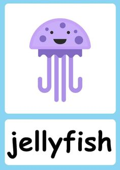 English Activities For Kids, Infant Activities, Ingles Kids, Baby Flash Cards, Flashcards For Kids, Kids English, Sea Theme, Cvc Words, Preschool Math