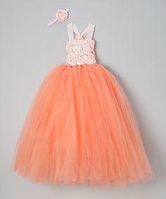 735655bb1 Love this Peach Soutache Tutu Dress - Infant