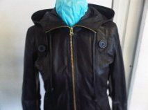 MIKE & CHRIS WOMEN LEATHER JACKET-BLACK-BRYANT.