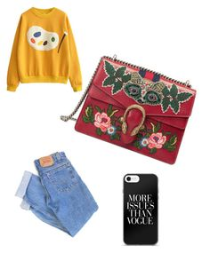 """swag"" by stylesmanda on Polyvore featuring Gucci and Levi's"