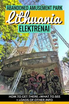 How to visit the abandoned amusement park in Elektrenai, Lithuania. This soviet theme park in Lithuania was once a top attraction until it closed in 2013 Lithuania Travel, Poland Travel, Italy Travel, Prague Travel, Travel Europe, Abandoned Amusement Parks, Abandoned Places, Abandoned Castles, Abandoned Mansions