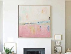 Rosa Malerei original Malerei abstrakte Malerei von jolinaanthony