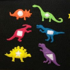 Magnetic Dinosaur Shape Matching Quiet Book Page {Felt With Love Designs}