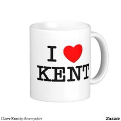 I Love Kent Classic White Coffee Mug