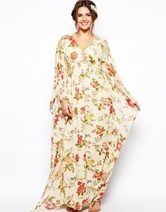 Image 4 - ASOS CURVE - Maxi robe kimono à imprimé oiseaux