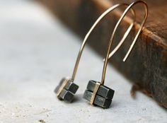 Silver and 14k goldfilled Cubist earrings by TheSilverPearl