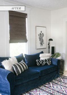 Navy Blue Sofa Comfort Works Custom Slip Cover Review