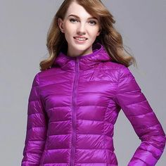 GODLIKE color ladies trendy winter coat/fashionable casual down jacket/Pure color, lightweight down jacket Nylons, Coats For Women, Jackets For Women, Down Puffer Coat, White Ducks, How To Slim Down, Wholesale Clothing, Winter Jackets, Winter Coats