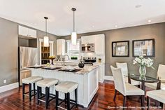 Kitchen we staged in a gorgeously remodeled Guelph home!