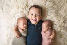 Newborn Twins with Older Sibling