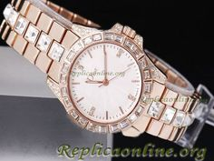 Christian Dior Watch Classic Full Rose Gold with Diamond Bezel Lady Model