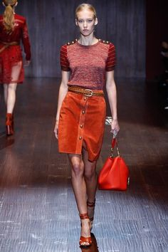 Gucci Spring 2015 Ready-to-Wear - Collection - Gallery - Look 16 - Style.com... I don't usually go for reds, but the texture and richness are irresistible!