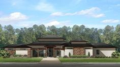 Home Plan HOMEPW78017 - 3541 Square Foot, 4 Bedroom 3 Bathroom Ranch Home with 3 Garage Bays   Homeplans.com