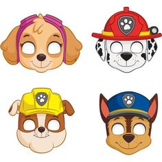 PAW Patrol Party Masks, Assorted 8-Count, Multicolor