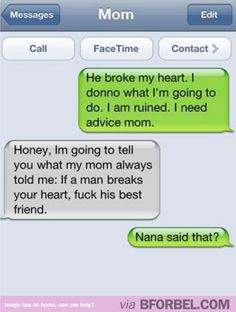 Motherly advice when you get dumped. #parenting