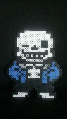 Undertale Sans Pixel Art Bead Sprite kandi by MelParadise on Etsy