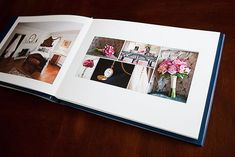 wedding album by Charlotte Geary Photography Wedding Photo Books, Wedding Book, Wedding Photos, Wedding Album Layout, Wedding Album Design, Scrapbook, Mini Albums, Inexpensive Wedding Venues, Destination Wedding Planner
