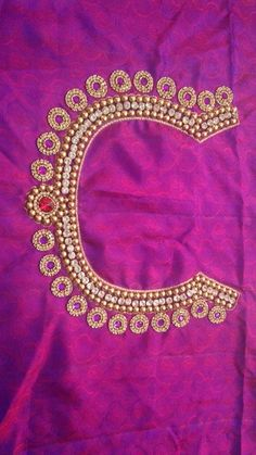 Golden beads and stones.. http://mytailor.in/