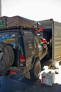 Shipping - http://ditsysdisco.blogspot.com/2017/03/shipping.html -  The  final hurdle for us was what to do with the landrover when we had finished.. We had toyed  with selling it in South Africa however despite this being possible,  due to the import laws we would have been unable to sell it for 2 years  after it was officially imported. That put that option out of the  question, along with driving it back (no money!).    In  October we finally settled with shipping it