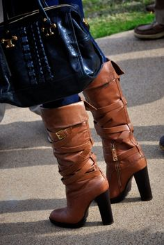 I want these Tory Burch boots, but can't wear them because of the ol' knee. Bummer.