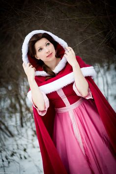 Movie: Disney's Beauty and the Beast  Character: Belle  Costume: Pink Winter Dress