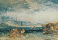 Joseph Mallord William Turner 'Windermere', 1821 © Reproduced courtesy of Abbot Hall Art Gallery, Kendal, Cumbria, England Joseph Mallord William Turner, Art Romantique, Turner Painting, Watercolor Landscape Paintings, Oil Paintings, English Romantic, English Artists, Land Art, Covent Garden