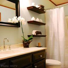 Zen Bathroom idea- floating shelves