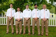 33 Cool Ideas for the Groomsmen - WeddingWire.com Ties for the Guys and Bow Tie for The Groom