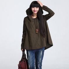 Trench Coat cloak hooded jacket Winter Jacket Hoodie by deboy2000