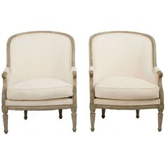 Gustavian Bergeres | From a unique collection of antique and modern bergere chairs at http://www.1stdibs.com/furniture/seating/bergere-chairs/