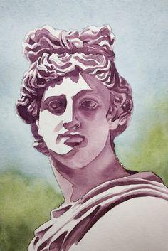 Original Watercolor Painting, Original Watercolor Artwork, 18x25 cm