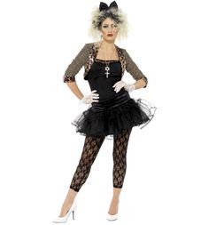 Ladies 80's Wild Child Madonna Style Fancy Dress Costume