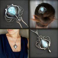 set jellyfish by KL-WireDream