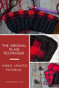 How to Crochet Buffalo Plaid - The Plaid Stitch Crochet Buffalo Plaid - Learn how to make Buffalo Plaid with crochet! Using simple color changes, you can achieve this classic look! Plaid Crochet, Crochet Beanie, Modern Crochet Patterns, Crochet Stitches Patterns, Buffalo Plaid, Crochet Crafts, Free Crochet, Crochet Projects, Bonnet Crochet