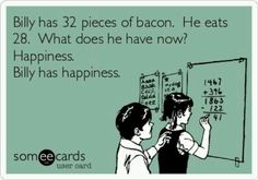 Bacon humor.
