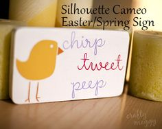 Whatcha Craftin' ~ Easter/Spring Sign