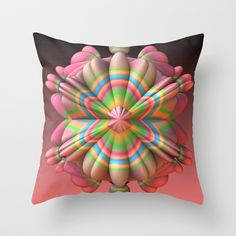 King Candy Throw Pillow by Lyle Hatch - $20.00